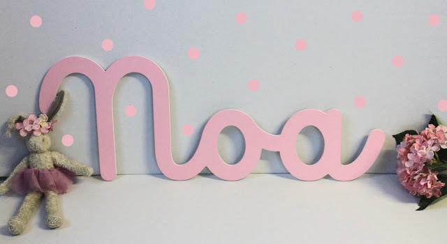Nombre Noa  para decoración habitación infantil
