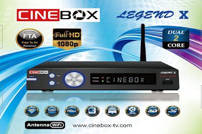 CINEBOX LEGEND X NOVA ATUALIZAÇÃO - SKS 22W - 28/10/2016