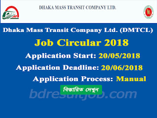 Dhaka Mass Transit Company Limited (DMTCL) Job Circular 2018