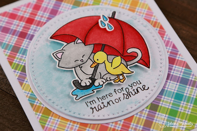 I'm Here For You Card by Juliana Michaels featuring Newton's Nook Designs Newton's Rainy Day Stamp and Die Set