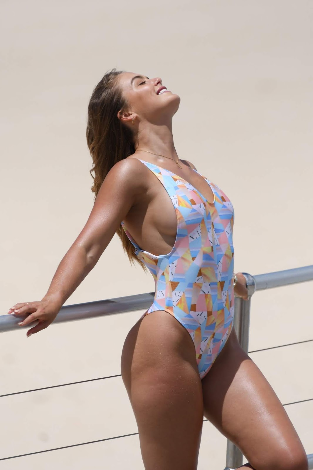 Steph Claire Smith poses in a variety of bikinis ...