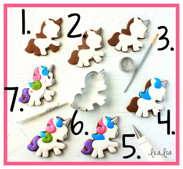 Unicorn sugar cookie decorating tutorial