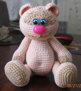 Вязаная крючком игрушка своими руками мишка