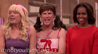 Michelle Obama And Will Ferrell Get EW! On Fallon