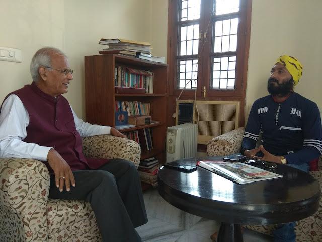 Kawaljeet Singh and President of Naitik Party Talking