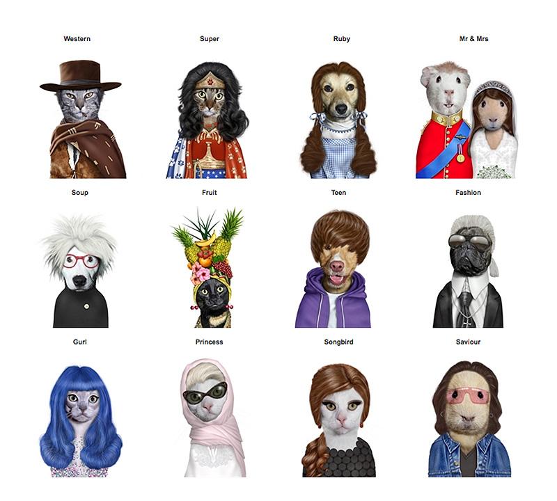 Takkoda Pets Rock characters