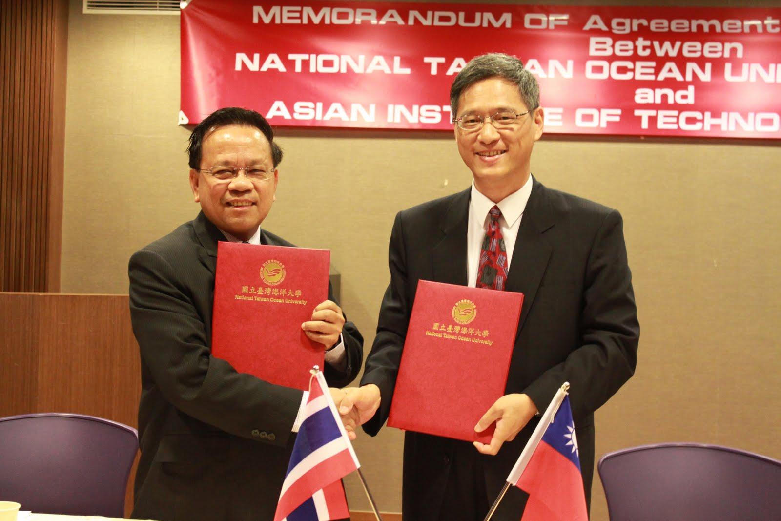 NTOU國立臺灣海洋大學校訊: 本校與亞洲理工學院合開五年一貫學碩士學程