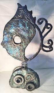 steampunk fish rosalie levi paverpol paversand contemporary sculpture recycle steampunk