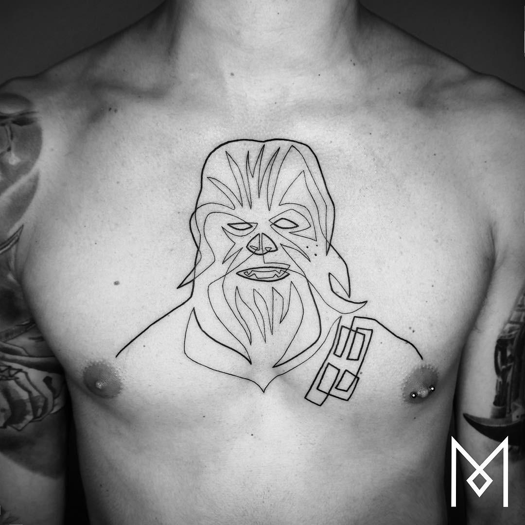 Single line tattoo berlin