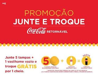Promoção Junte e Troque Coca-Cola Retornável 2017