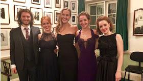 Michael Mofidian, Svetlina Stoyanova, Ida Ränzlöv, Claire Lees, Nino Chokhonelidze (Photo Independent Opera)