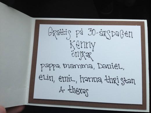 födelsedagskort 30 runesdotterpyssel: Födelsedagskort   Kenny 30 födelsedagskort 30