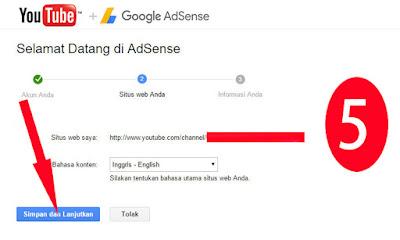 cara daftar adsense youtube