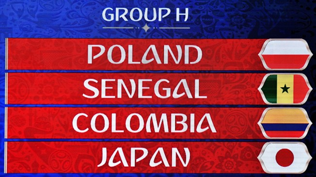 FIFA World Cup 2018 Group H Teams