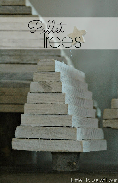 How to make rustic pallet wood Christmas trees
