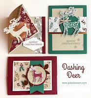 Stampin' Up! Dashing Deer Card Kit ~ Stamp of the Month Club ~ 2018 Holiday Catalog ~ www.juliedavison.com