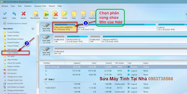 Hướng dẫn chuyển Win từ HDD sang ổ SSD