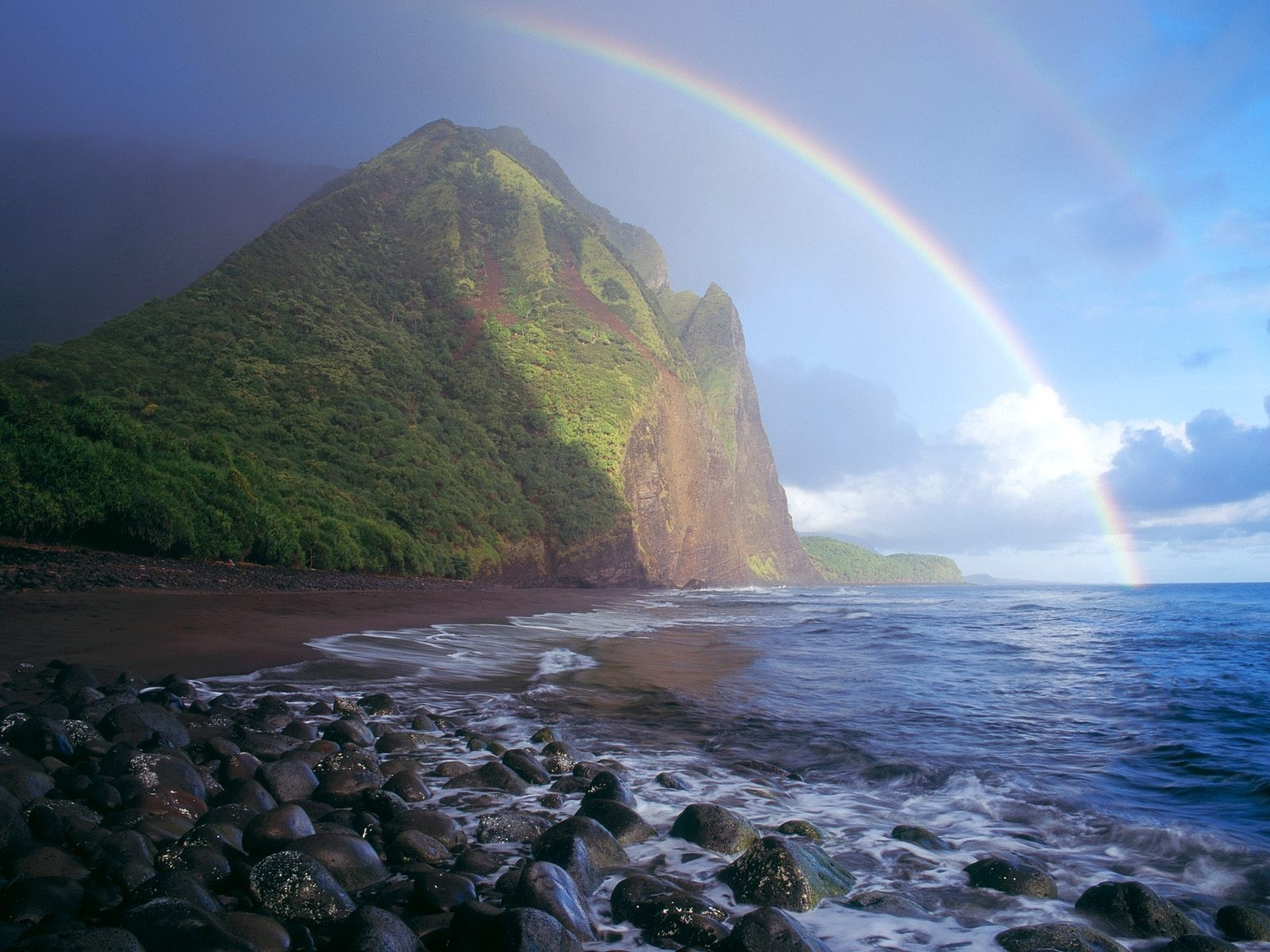 rainbow wallpapers nature rainbows natural hawaii cool pretty awesome amazing double pic rain 1600