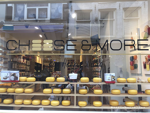 Cheese window shop in Amsterdam