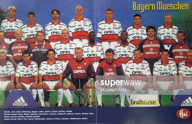 POSTER FULL TEAM BAYERN MUENCHEN 1999
