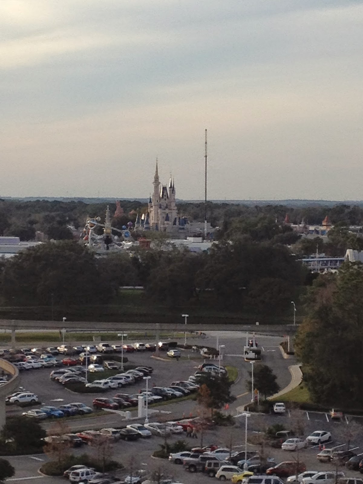 Disney, Orlando, Cinderella's Castle, contemporary, bay lake tower hotel, view from room, magic kingdom