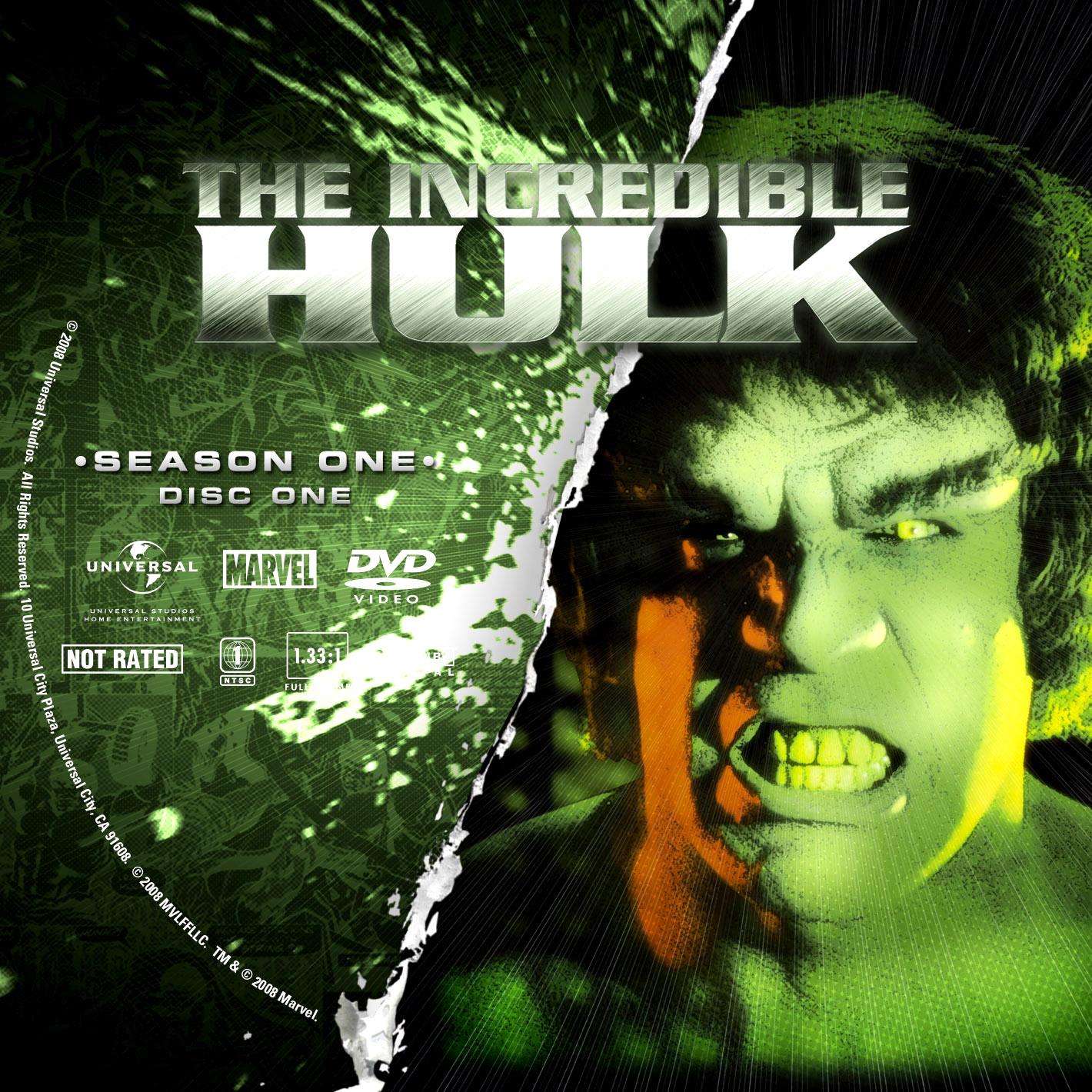 Labels DVD The Incredible Hulk Primeira Temporada Completa D1 a D4