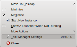 Task manager settings