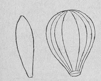 воздушный шар из бумаги, схема