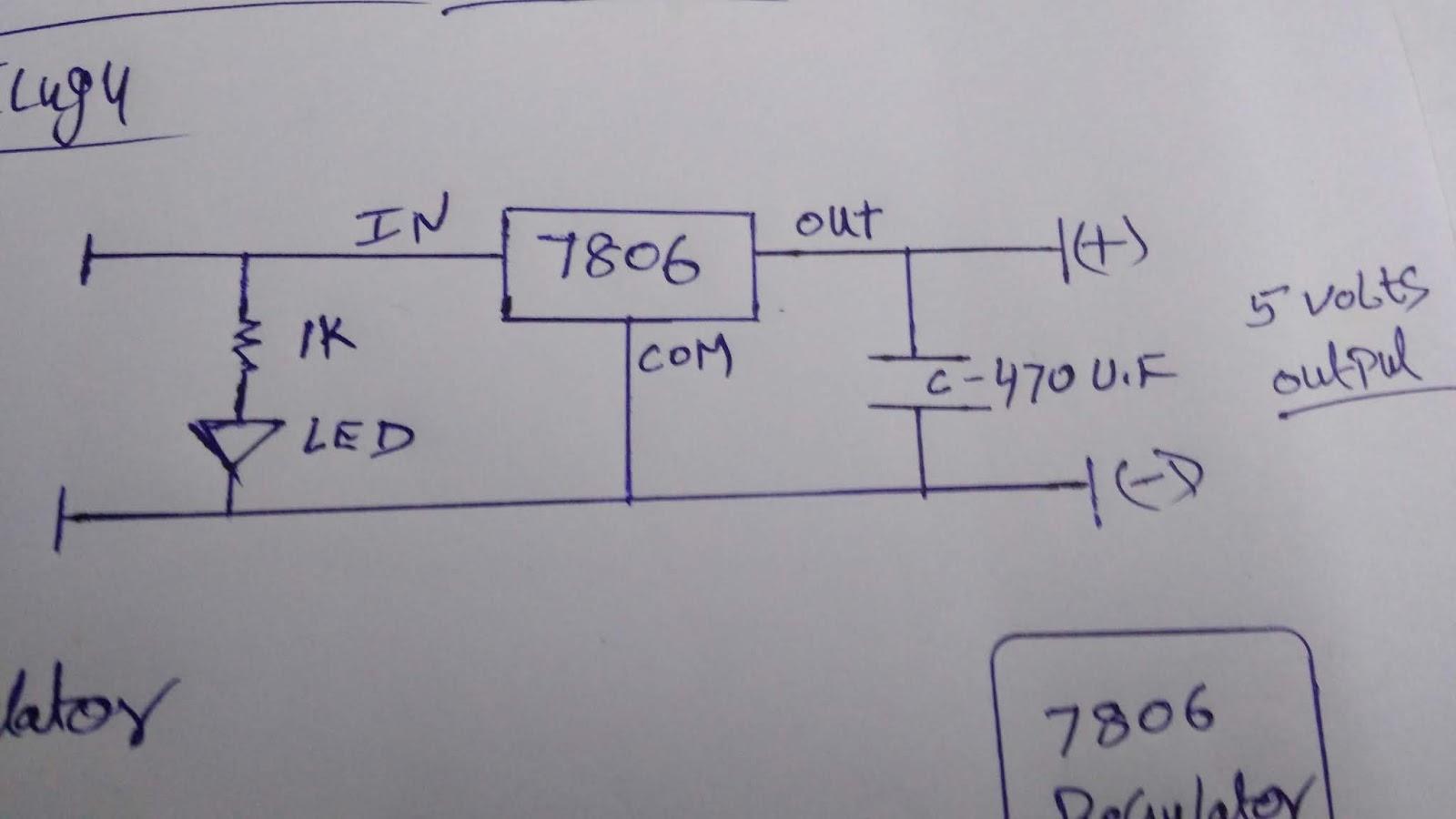 7806 regulator circuit | 6 volt regulator circuit using 7806 ic | 7806 voltage  regulator