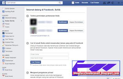 akun facebook sudah selesai di buat