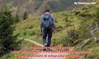 kata-kata mutiara romantis pendaki gunung