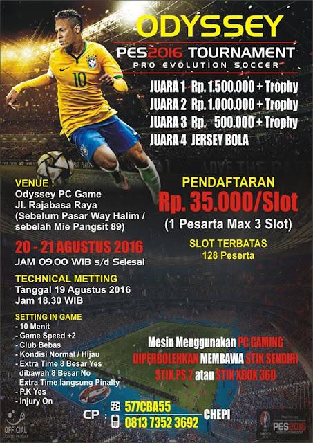 Info Kompetisi PES 2016 di Bandar Lampung