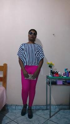 Blusa Listrada com Calça