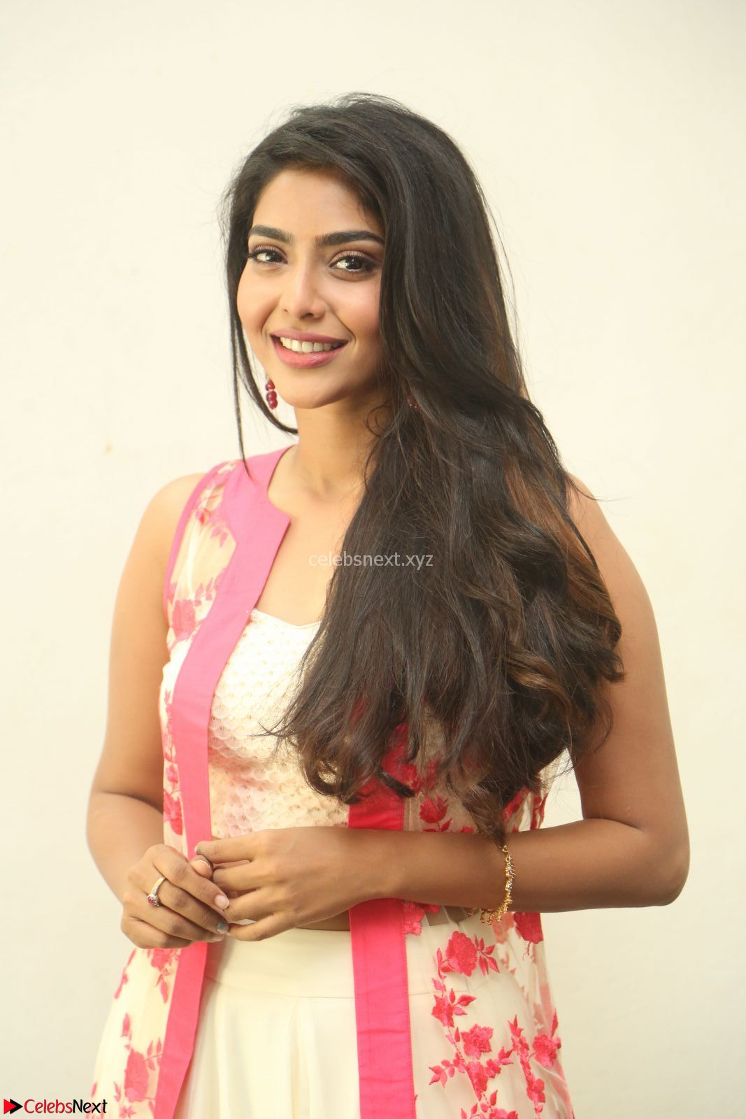 Aishwarya Lekshmi stunning in sleeveless deep neck gown transparent Ethnic jacket ~ CelebsNext Exclusive Celebrities Galleries
