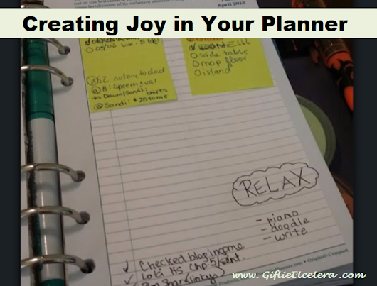 Creating Happiness in Your Planner