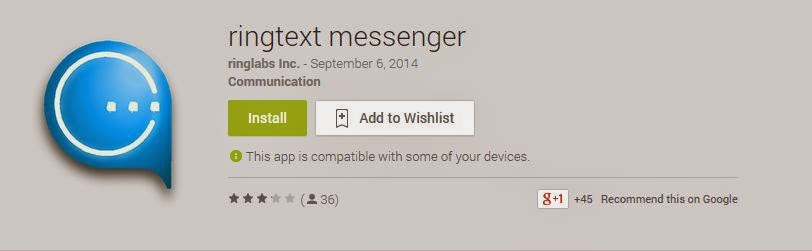 KillerPhones: Ringtext messenger for Android - Send and