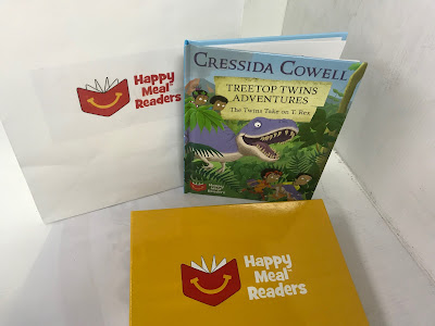 Happy Meal Reader book by Cressida Cowell with box