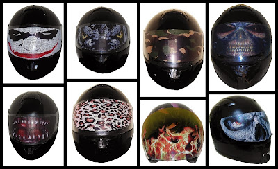 Motorcycle Helmet Visor Stickers