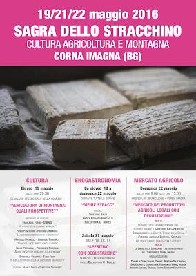 Sagra dello Stracchino 19 - 21 -22 Maggio  Corna Imagna (BG)  2016