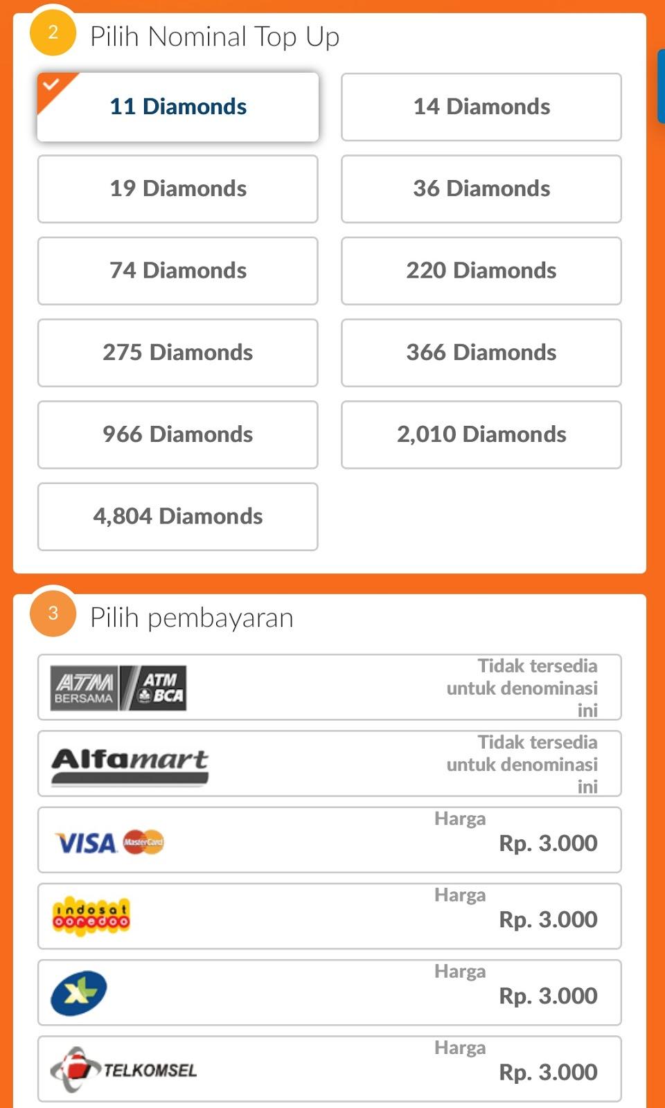 Cara Top Up Diamond Di Codashop Bisa Beli Rp 3 000 Lho Irumira