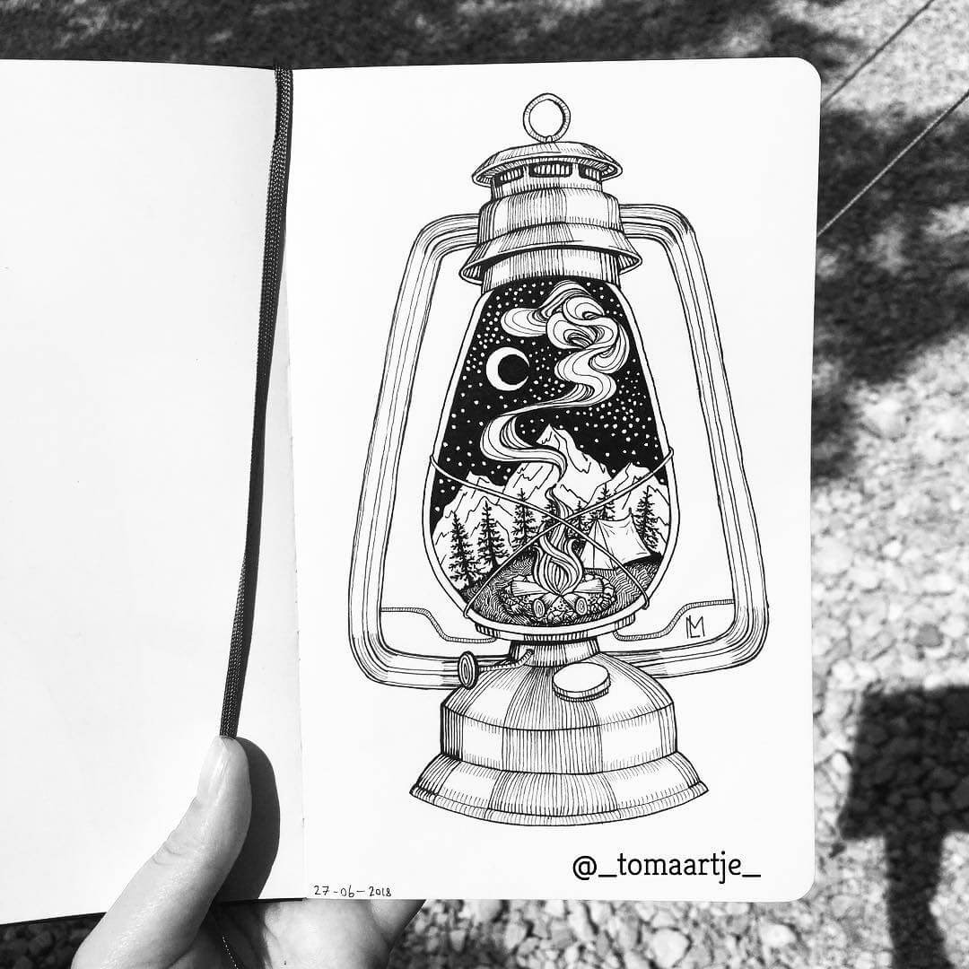03-Camping-in-a-Lantern-Maartje-Ink-Drawings-Mostly-Enclosed-www-designstack-co