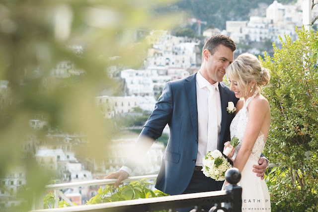 Wedding portrait at Villa Oliviero in Positano