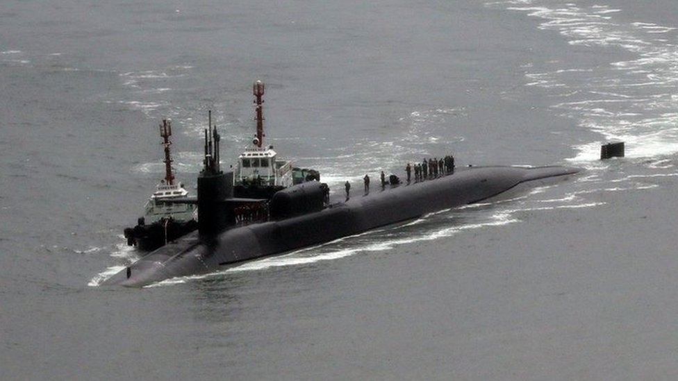 US submarine arrives in South Korea as tensions rise