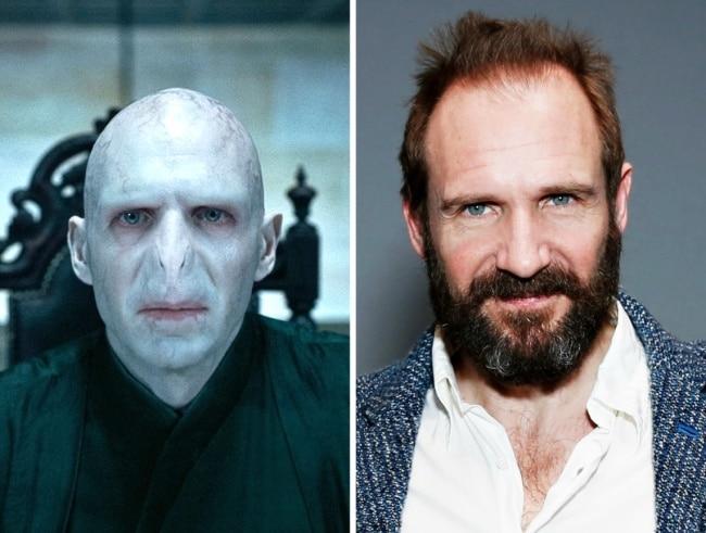 Lord Voldemort interpretado por Ralph Fiennes