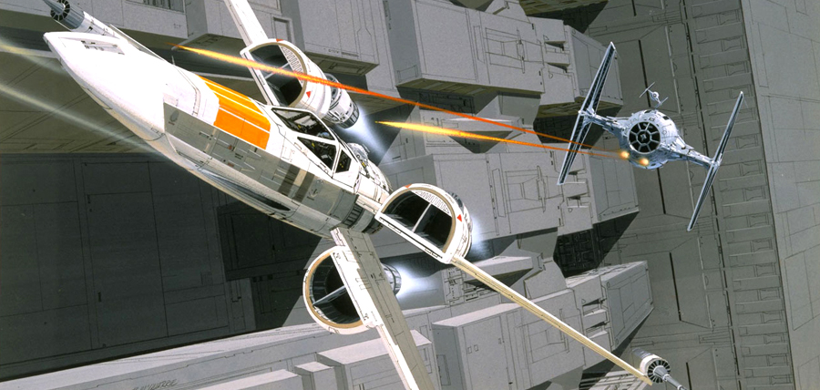 Nava X-Wing în concepţia originală a artistului Ralph McQuarrie