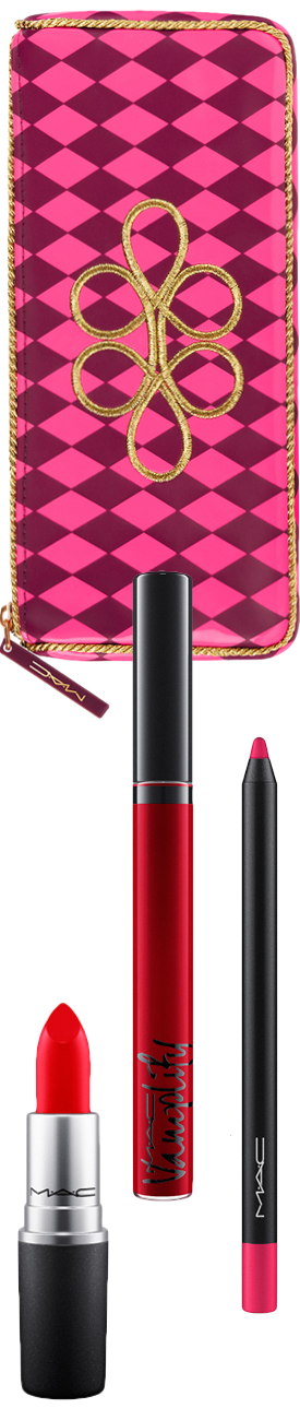 M·A·C Cosmetics Nutcracker Sweet Red Lip Bag