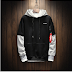 Cool Sweatshirt Men Hip Hop patchwork Long Sleeve Pullover Hoodies 2018