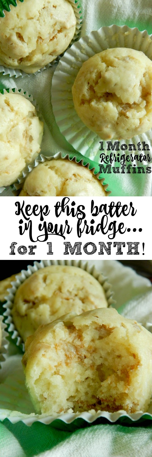 1 Month Refrigerator Muffins...this batter can stay in the fridge for up to one month!  Tangy, sweet and so incredibly soft, the best muffin I've made to date! (sweetandsavoryfood.com)