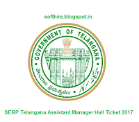 SERP Telangana Assistant Manager Hall Ticket