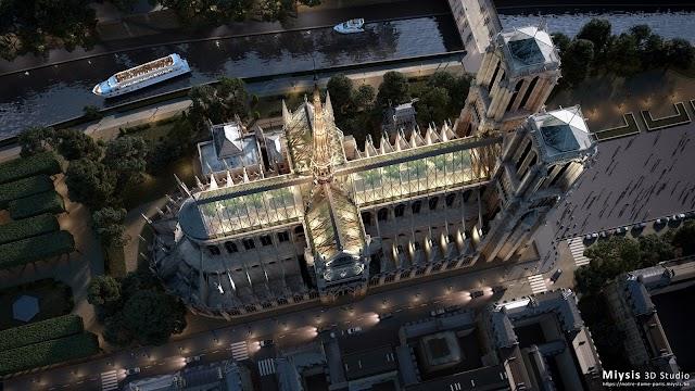 Công ty kiến trúc đóng góp ý tưởng thiết kế cho nhà thờ Đức Bà Paris